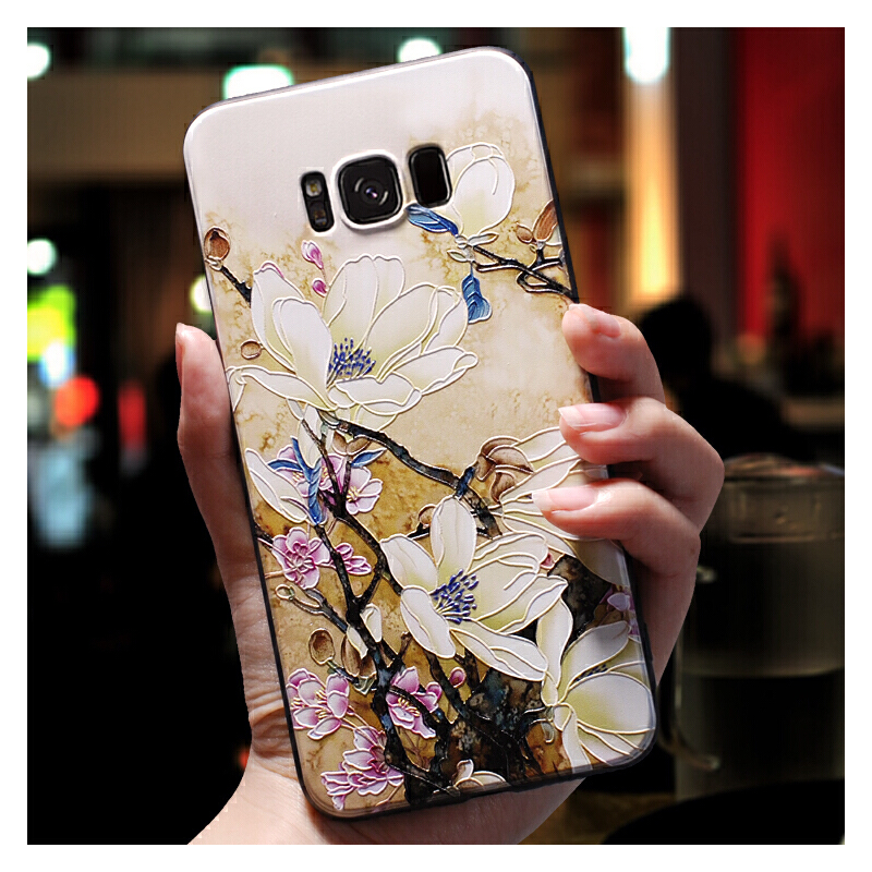 三星s8手机壳女款s9+薄个性创意s8plus磨砂硅胶全包防摔保护套