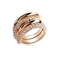 组合指环玫瑰金大夸张简约食指装饰戒指