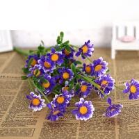 塑料花雏菊小把玫瑰花水草室外仿真塑料假花单支花艺插花装饰