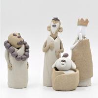 原创纯西游记摆件茶宠陶艺雕塑创意生日礼物办公室摆设