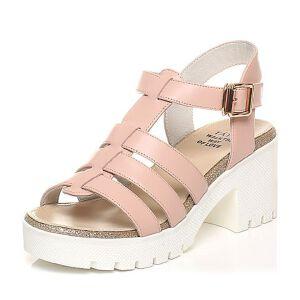 Tata/他她2017夏季专柜同款小牛皮简约罗马风女皮凉鞋2A115BL7