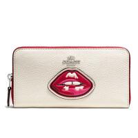 【当当自营】蔻驰(COACH)新款女士卵石皮革拉链封口卡包钱包女手拿包 F59337