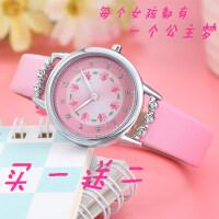儿童手表女孩防水石英表中小学生女童女生表可爱简约潮流水钻腕表