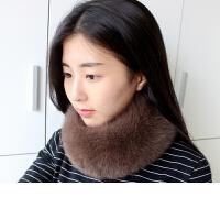 狐狸毛围巾围脖真毛保暖磁铁搭扣皮草围巾围脖脖套女季