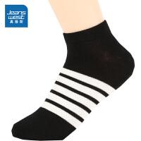 [618提前购专享价:4.9元]真维斯女装 春秋装 休闲间条船袜