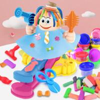 过家家小猪面条机理发师彩泥 儿童套装diy玩具创意彩泥面条机