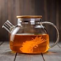 耐热玻璃茶壶花茶壶冷水壶过滤加厚明火加热煮茶大容量茶具大小流水壶