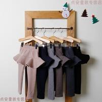 女宝宝打底裤加绒加厚冬0一1-2-3岁婴儿女童带裙子儿童裙裤假两件