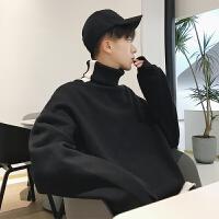 2018潮流男士高领加厚卫衣冬季新款韩版情侣外套原宿港风打底衫