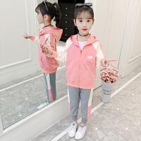 木木屋女童套装2021春秋新款网红洋气时尚儿童运动休闲韩版时髦女