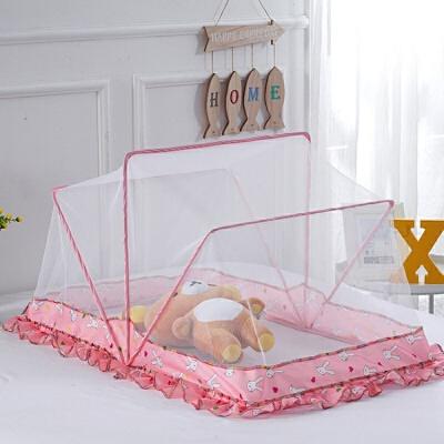 婴儿床儿童蚊帐可折叠支架自动无底免安装bb婴儿蚊帐床罩可通用M