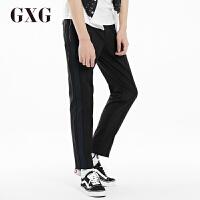GXG休闲裤男装 夏季男士时尚潮流黑色休闲都市流行修身长裤男裤潮