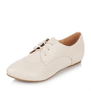 【鞋靴超级品类日】BASTO/百思图专柜同款山羊皮女单鞋TTK45CM5