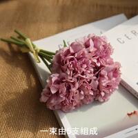 仿真花束绣球牡丹手感餐桌花艺欧式茶几室内迷你假花装饰花小摆件