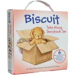 顺丰发货 英文原版绘本 Biscuit Take-Along 6 Book Box Set 小饼干狗礼盒装6本 汪培�E