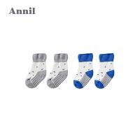 【2件45折:22.1】安奈儿童装宝宝袜子加厚毛巾袜两件装新款