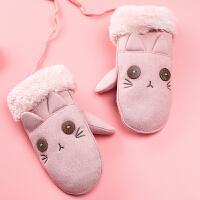 儿童手套冬女孩保暖加绒可爱女秋冬小孩连指秋冬季男孩宝宝手套冬