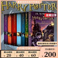 【神券立减130元】哈利波特英文原版 美版20周年纪念小说 Harry Potter 1-7册全集 魔法石 科幻小说