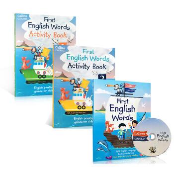 得奖进口幼儿图解字典 Collins First English Words 系列教材+练习册 附CD 英文原版 3-5-6-7-8岁 100-300词汇学习拓展