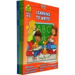 【4-8岁学科练习6册】School Zone I Know It Workbook 单词阅读写作数学小学生练习册 S