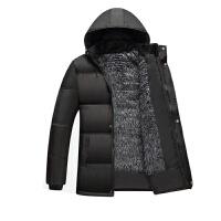 慈姑保暖外套中老年爸爸装大码男装冬装中长款加绒加厚棉袄棉衣男