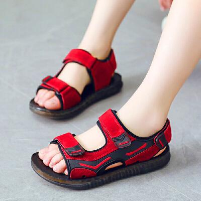 男童凉鞋版儿童沙滩鞋夏季中大童鞋小男孩凉鞋