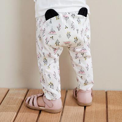 【满200减130】迷你巴拉巴拉男女童装婴儿夏季长裤弹力纯棉裤子2019新款宝宝宽松PP裤