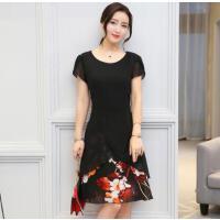 夏季连衣裙女2018新款韩版时尚裙中年夏装中长款夏天女装雪纺裙子