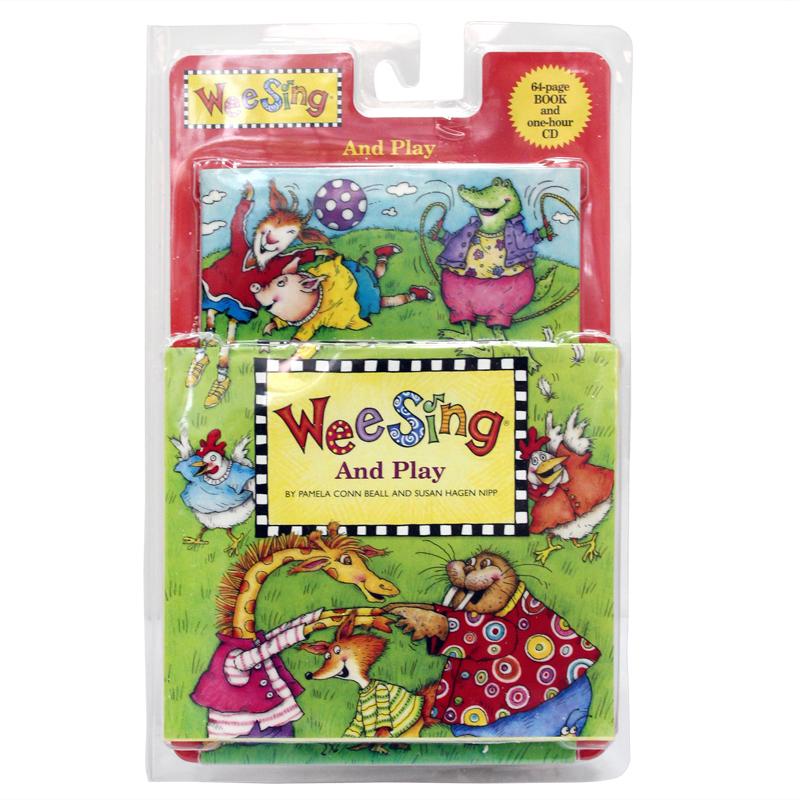 英文原版 Wee Sing and Play + CD少儿英语原版绘本 故事经典英文读物书经典儿歌童谣绘本 听儿童学英语 培养宝宝学习英语的乐趣 互动亲子