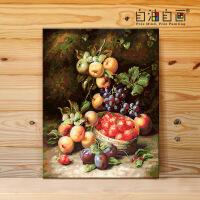 数字油画diy 欧式风景花卉手工填色油彩装饰画 梵高杏花SN4239 40x50绷好实木内框 绷好画框+高亮颜料+精致