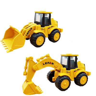 挖掘机玩具推土机小号模型工程车套装儿童玩具铲车挖土机耐摔