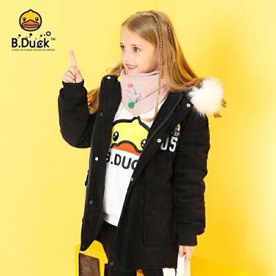 【大促价:439.6】B.duck小黄鸭童装女童羽绒服冬季新款儿童中长款洋气女孩加厚外套BF5016919