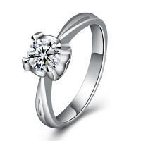 梦克拉 18K金钻石戒指 如影随形 k金钻戒 婚戒 结婚戒指 订婚戒指单钻镶嵌