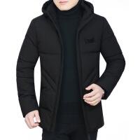 中年男棉衣冬新款爸爸外套可脱卸帽商务中年男士保暖加厚棉袄