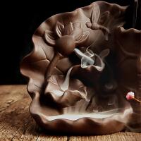 倒流香炉陶瓷香薰炉居室檀香炉创意熏香炉摆件沉香香插盘香炉香道