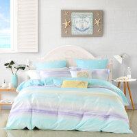 水星家纺全棉四件套简约被套床单床笠云淡风轻床上用品