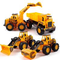 20190628214516750挖掘机玩具车小挖机男女孩惯性回力工程车儿童耐摔挖土机套装