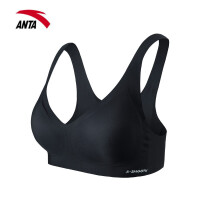 【满99-20】安踏运动背心女跑步瑜伽健身新款防震文胸运动内衣官网162117119
