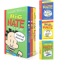 【全店300减100】英文原版 Big Nate Triple Play Box Set (英语) 平装 启蒙7-12岁