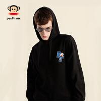 拍下立减!Paul Frank/大嘴猴春季设计师款男女中性套头加绒卫衣