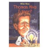【现货】英文原版 Who Was Thomas Alva Edison? 托马斯・爱迪生是谁? 名人传记 中小学生读物