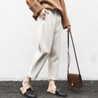 孕妇裤子打底外穿加绒保暖棉裤托腹毛呢秋冬季冬装女2018新款
