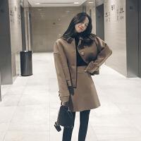 冬装时尚毛呢套装女韩版毛呢外套高腰呢子半身裙两件套