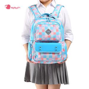 【2件2.9折,1件3.5折】momogirl双肩包女小学生书包背包减负学院风 日韩版休闲书包M5319