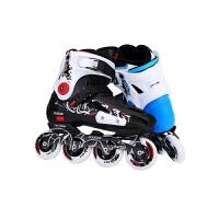 单排轮滑鞋初学者旱冰鞋男女溜冰鞋直排轮可闪光平花鞋