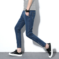 春季小码男裤160矮个子牛仔裤瘦版27码26号牛仔裤显瘦男生小脚裤