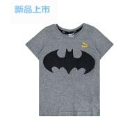 童装2018春夏新品蝙蝠侠系列儿童小童中大童纯棉短袖T恤