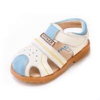 夏季新款男宝宝学步凉鞋男童牛皮鞋女童包头凉鞋潮