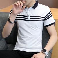 男士短袖T恤有领棉翻领POLO衫韩版潮流男装青年带领上衣服2068#