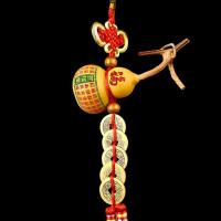 小葫芦五帝钱铜钱摆件葫芦挂件招财家居风水客厅镇宅转运